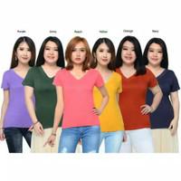 V-Neck polos /Kaos basic polos /T-Shirt cewek / baju wanita