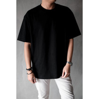 Teemochi kaos baju Oversized Oversize T-shirt hitam black