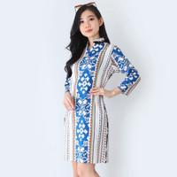 Baju Batik Wanita Dress Batik Wanita Modern 586 TI