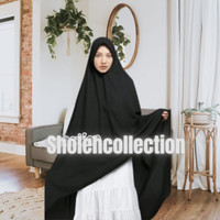 King Collection Hijab syar'i Jumbo pet Wollycrep- Black