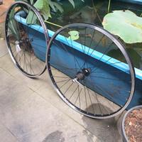 Wheelset MTB 26 Araya TM 640 Shimano m435 jari jari hitam