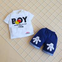 Setelan Baju Anak Bayi Laki Laki Usia 0 - 1 Tahun Lengan Pendek Murah