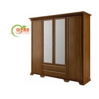 lemari pakaian minimalis pintu 4 bahan kayu jati TIPE KNOCKDOWN