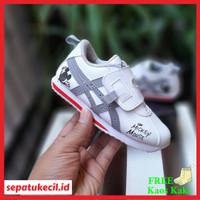 Sepatu Anak Asics Mickey Mouse White Grey Premium Quality