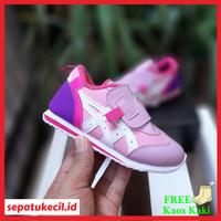 Sepatu Anak Asics Tiger Idaho Velcro Pink Purple Import Quality