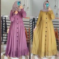 Baju Gamis Syari Wanita Terbaru Alesha Plain Maxy Termurah