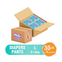 pampers baby happy l isi 30+4. karton