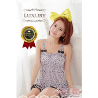 JXX24L Leopard Lingerie G-String Y-Line Baju Seksi Wanita motif macan