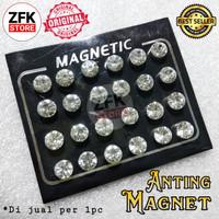 Anting Magnet Kristal 8mm 1pc