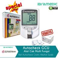 autocheck GCU alat autochek 3 IN 1 gula asam urat cholestrol