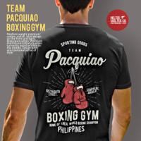 Kaos T Shirt Baju Team Pacquiao Boxing Gym Fighter Manila Distro - L