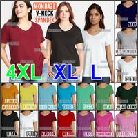 Kaos Polos V-NECK Pendek / Basic / Atasan Wanita MONDAZE - SPANDEX - L