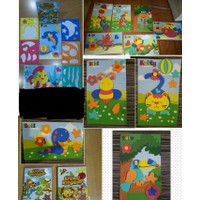 Mainan Anak Edukasi Diy Puzzle Foam Animal Kingdom / Souvenir Ultah
