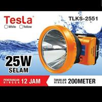 Tesla Senter Kepala Selam 25w TLKS 2551 Diving Waterproof 200m ORI