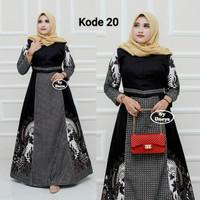 gamis batik lawasan Baju ibu batik longdress batik wanita 001