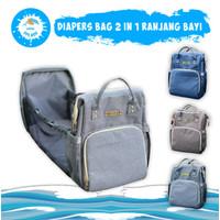 Tas Bayi 2in1 | Diaper Bag Ranjang Bayi Multifungsi KIDDIE SPLASH