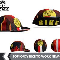 topi sepeda bike to work cycling premium city view
