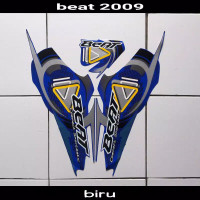 Striping sticker lis body honda beat karbu lama thn 2009 2010 biru