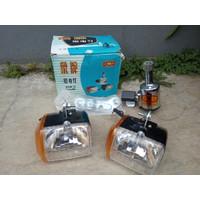 Satu set lampu dinamo sepeda onthel mini bike Gajah Elephant