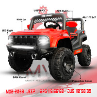 Mainan Anak Mobil Aki Jeep MOB 2033 Ban Karet