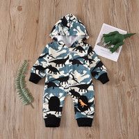 baju bayi jumper dinosaurus blue hoddie for baby 0-2 tahun