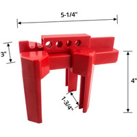 Ready Stock Small Ball Valve Lockout, for 1/2 - 2-1/2 OD Pipe, Red