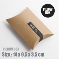 PILLOW BOX / KOTAK KADO / KOTAK SOUVENIR UK. 14x9,5x3,5 CM CRAFT 280