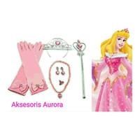 Aksesoris Princess Aurora ( Bando Mahkota , Tongkat & Sarung Tangan)