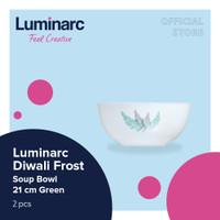 Luminarc Mangkuk Diwali Frost - Soup Bowl 21cm Green - 2pcs
