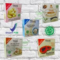 (BPOM) THAI Sabun Batang Pemutih Badan Rice Goats Milk 50gr / 130gr