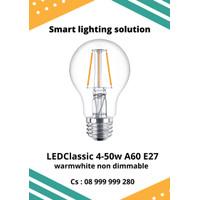 Philips LED Classic 4w - 50w A60 WarmWhite E27 - Cahaya Kuning