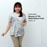Atasan Batik Wanita / Blouse Jumbo / Baju Big Size Model Seragam Batik - M