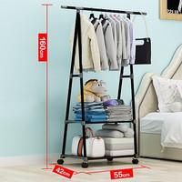 Rak Gantungan Baju Multifungsi Hanger Besi Segitiga Anti Slip