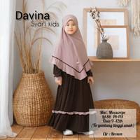 Baju Perempuan Gamis Anak Bisa Cod Davina Syari Kids Umur 9-12 Tahun