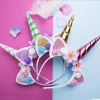 Bandana unicorn / bando unicorn anak lucu T9