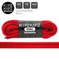 KipzKapz OS9 True Red 90cm 115cm 140cm - Tali Sepatu Oval Shoelace