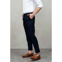 Houseofcuff Celana Ankle / Cropped Pants Slimfit Sirwal Biru Navy - 27