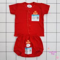 Setelan baju celana Pop bayi warna premium Candy Red MIYO 0-3 bln 1 PC