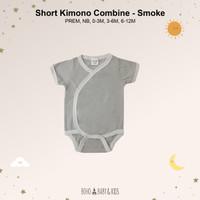 SHORT KIMONO COMBINE PREM NB 0-3M 3-6M 6-12M (Jumper Bayi) - SMOKE, 3-6M
