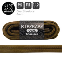 KipzKapz OS2 Brown Chocolate 90cm 115cm 140cm Tali Sepatu Oval
