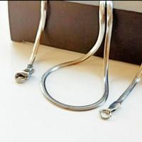 kalung titanium model belut ular pipih 50cm-kalung-pria-wanita