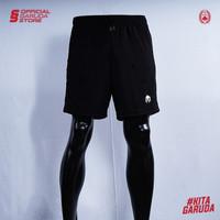 Short Training Timnas Indonesia MILLS Black/White/Navy/Red