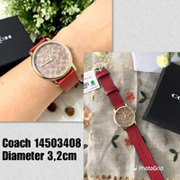 Jam tangan wanita Coach original red signature khaki watch