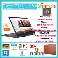 LENOVO YOGA 6 Ryzen 5 4500U 512GB SSD 16GB 13.3 72% NTSC WIN10+OHS