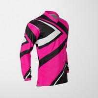Baju Kaos Jersey Sepeda Motocross Trail Lengan Panjang Dewasa PINK