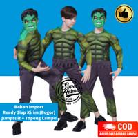 Kostum Hulk Superhero Anak Import Otot Busa Baju Ultah Karakter Laki