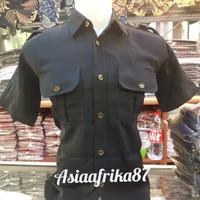 Stelan seragam baju safari hight twist premium lengan pendek