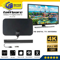 Antena TV Digital Indoor DVB-T2 4k High Gain 25-Db Tfl-D139 Taffware