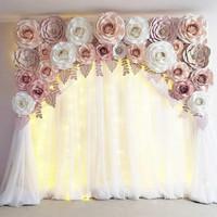Paper Flower Backdrop Premium 07