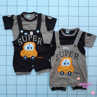 Baju kodok bayi jumper bayi Super Tom Pege Tom-Tom 6-12 bulan 1 PCS